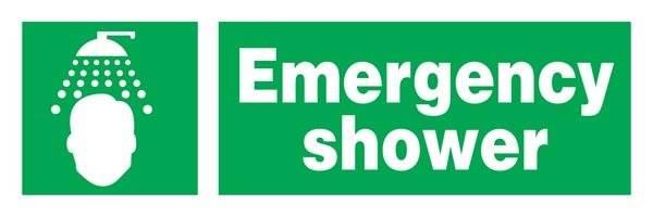 Emergency Shower Redningsskilt