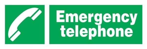 Emergency Telephone Redningsskilt