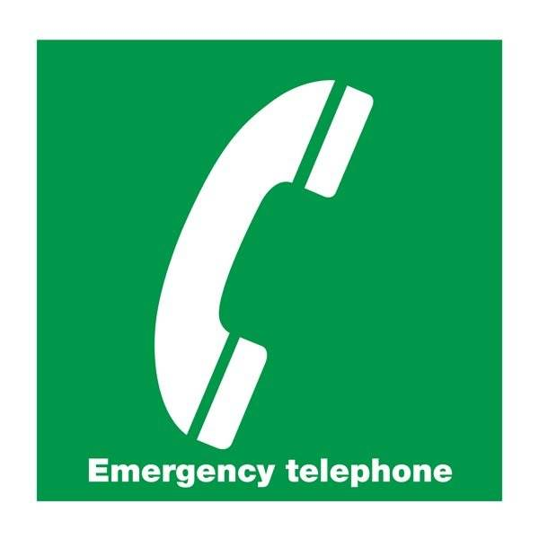 Emergency telephone: Redningsskilt