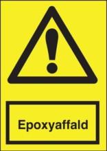 Advarselsskilt - Epoxyaffald