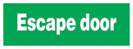 Escape Door Redningsskilte.