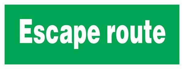 Escape Route Redningsskilte.