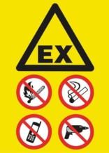 EX forbud ild røg tele boring skilt