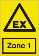 Advarselsskilt - EX Zone1