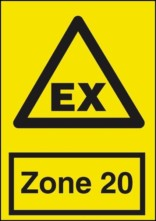 Advarselsskilt - EX Zone 20