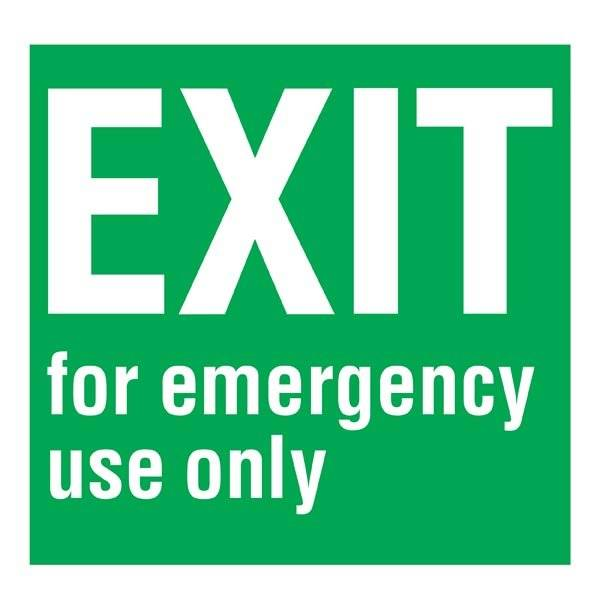 Exit-for Emergency Use Only Redningsskilt