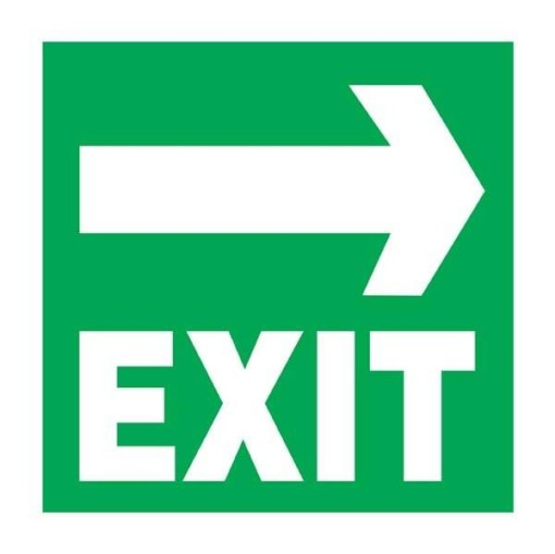 Exit - Right Arrow Redningsskilt
