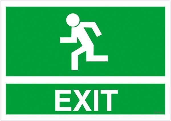 Exit Skilt. Redningsskilt