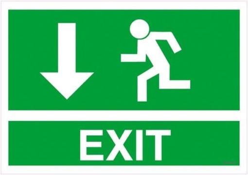 Exit pil ned Skilt