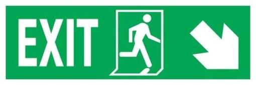 Exit Left-man Run Right-arrow Down-right Redningsskilte.