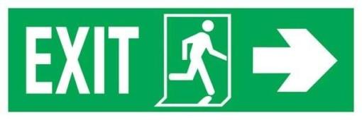 Exit Left-man Run Right-arrow Right Redningsskilte.