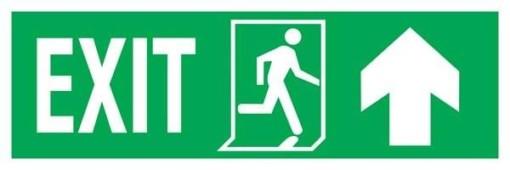 Exit Left-man Run Right-arrow Up Redningsskilte.
