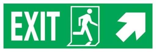 Exit Left-man Run Right-arrow Up-right Redningsskilte.