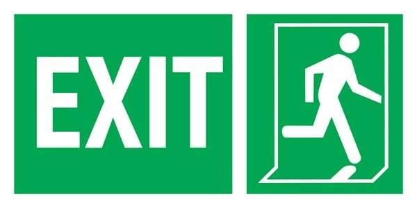 Exit Left-man Run Right-boxes  Redningsskilte