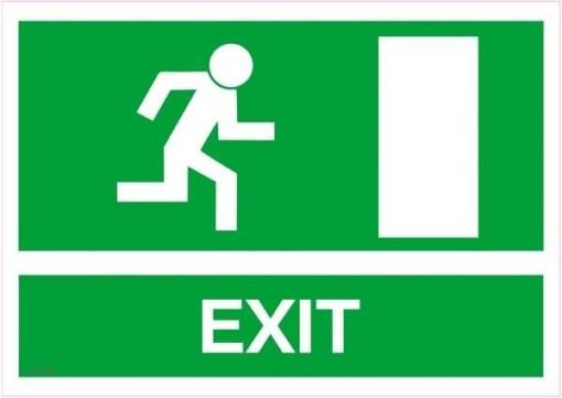 Exit mod højre Skilt