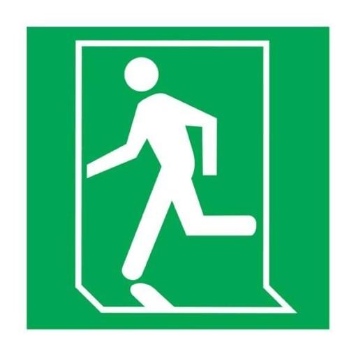 Exit Person Left Redningsskilt