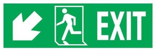 Exit Right-man Run Left-arrow Down-left Redningsskilte.