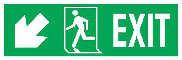 Exit Right-man Run Left-arrow Down-left Redningsskilte.