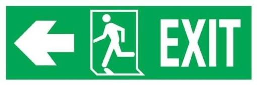 Exit Right-man Run Left-arrow Left Redningsskilte.