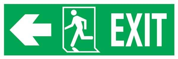 Exit Right-man Run Left-arrow Left Redningsskilte.