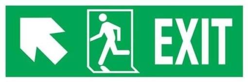 Exit Right-man Run Left-arrow Up-left Redningsskilte.