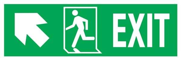 Exit Right-man Run Left-arrow Up-left Redningsskilte.