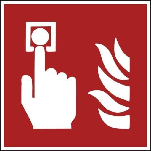 F005 ISO 7010 Alarmknap. skilt