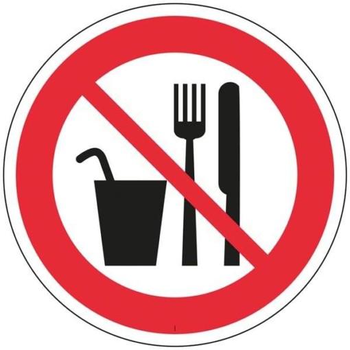 Fødevarer forbudt skilt