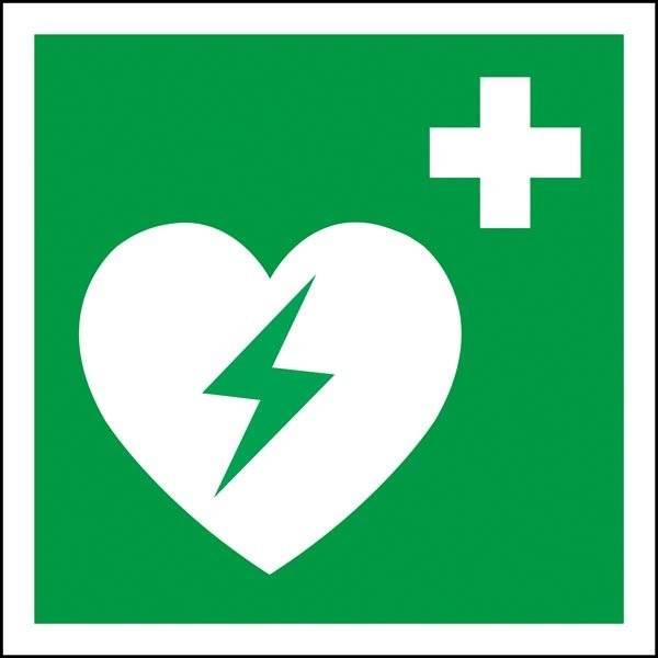 Førstehjælps hjertestarter Redningsskilt
