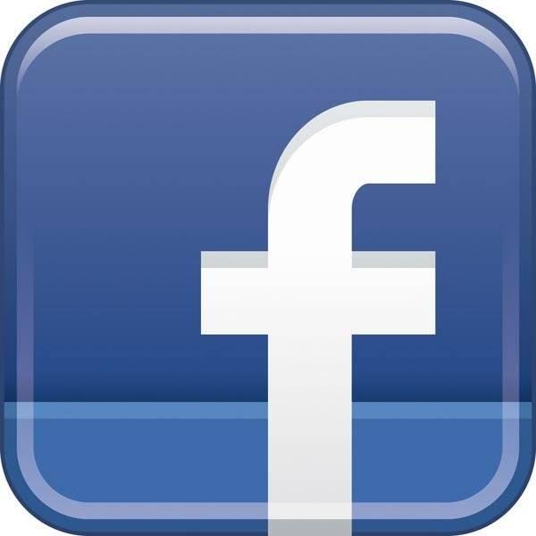 Facebook logo. Piktogram skilt