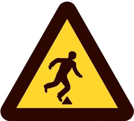 Advarselsskilt - Fald