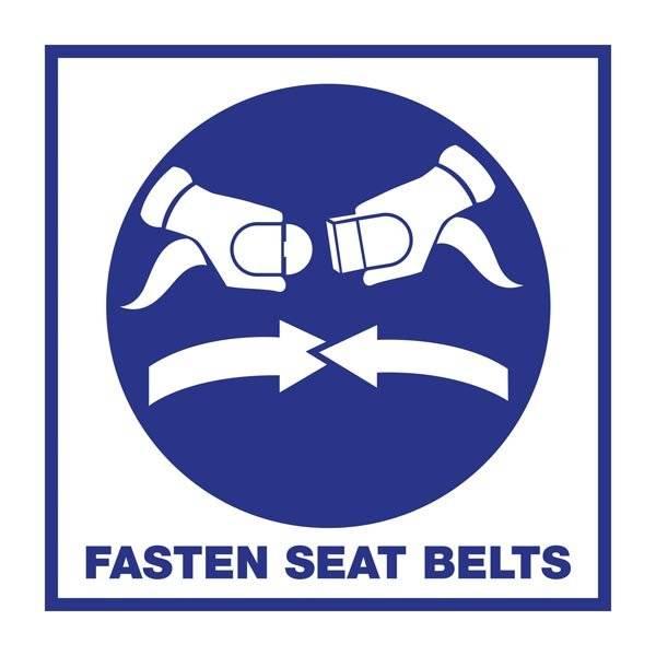 Fasten Seat Belts: Redningsskilt