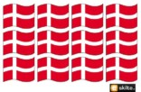 Flag ark Etiket 12 stk skilt
