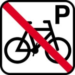 Cykel P forbud. skilt