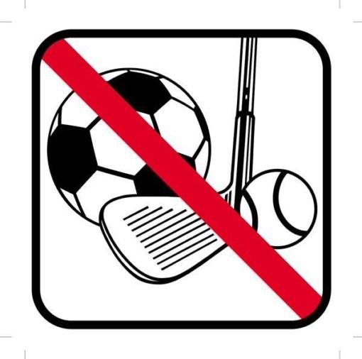 Boldspil forbudt skilt