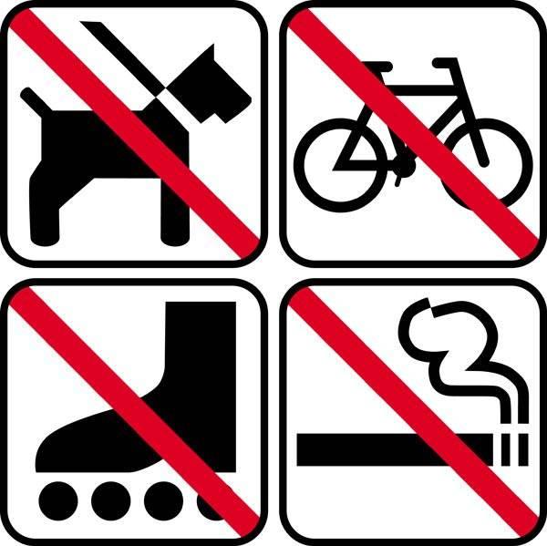 Forbuds piktogrammer skilt