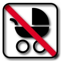 Barnevogns forbuds piktogram skilt