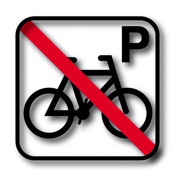 Cykel P forbuds piktogram skilt