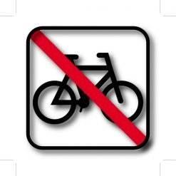 Cykel forbuds piktogram skilt