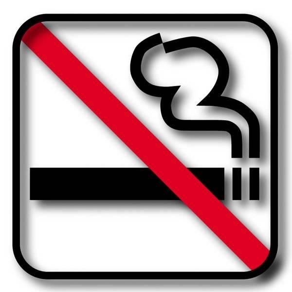 Ryge forbuds piktogram skilt