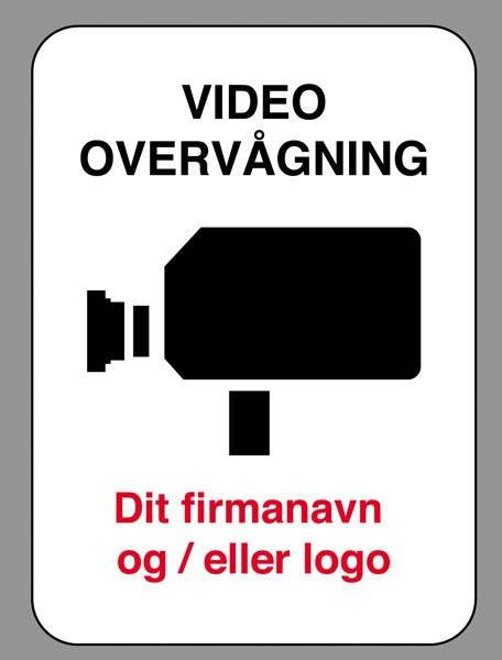 Video overvåget skilt