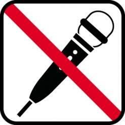 Optagelse forbudt skilte