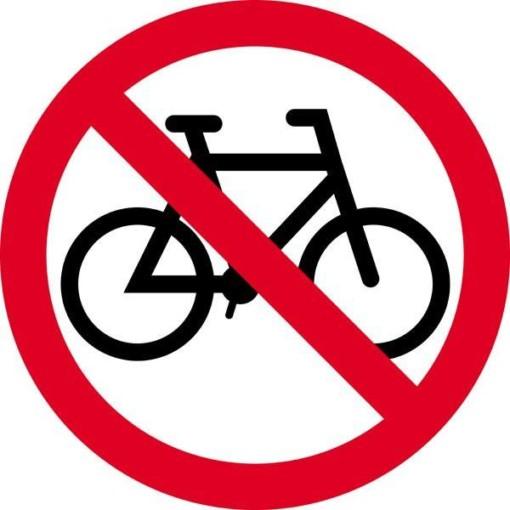 Cykel forbudstavle skilt