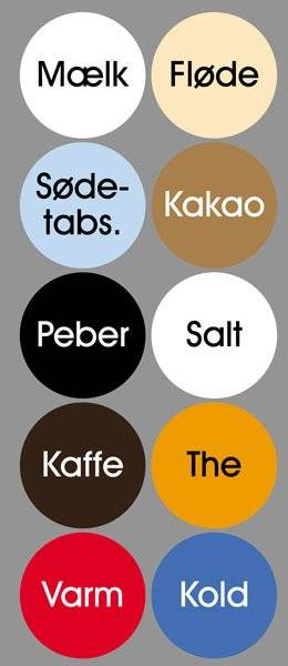 Diverse Køkken etiketter
