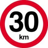 30 km. Hastighedsbegrænsning skilt