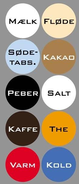 Diverse Køkken etiketter varme kolde drikke2BankGothicBT