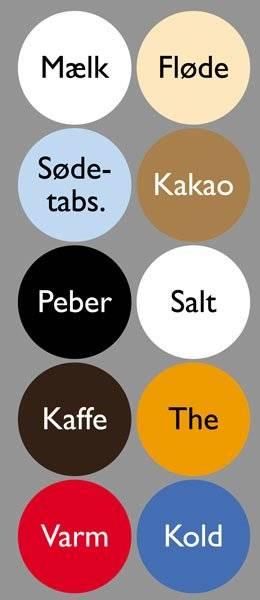 Diverse Køkken etiketter varme kolde drikke2GillSans.