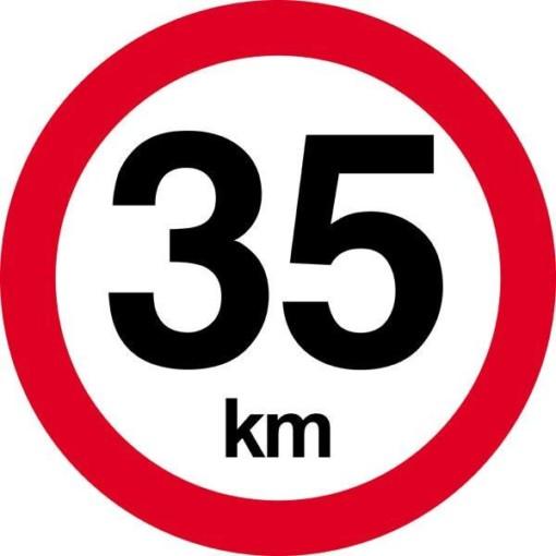 35 km. Hastighedsbegrænsning skilt