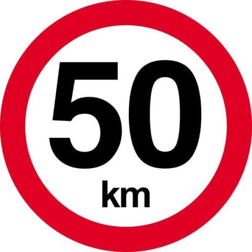 50 km. Hastighedsbegrænsning skilt