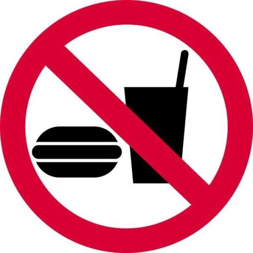 Ikke til indtagelse af fødevarer skilt